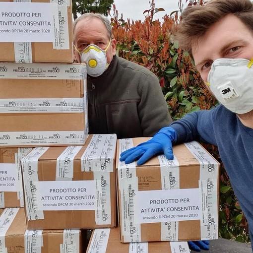 Da Novara 6mila porzioni di riso donate all'ospedale da campo di Bergamo