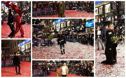 Sanremo: spettacolo 'Red Carpet', via Matteotti e piazza Colombo invasa dai fan dei protagonisti del Festival