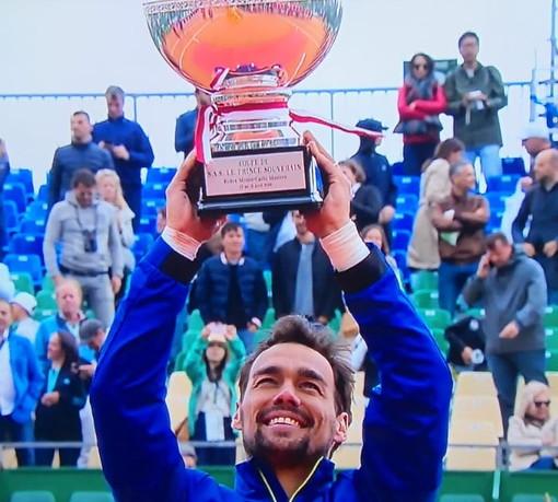 """Tennis: l'impresa di Fabio Fognini a Montecarlo, dai complimenti del Principe e di Pietrangeli alle sue dichiarazioni """"Grazie a tutti"""""""