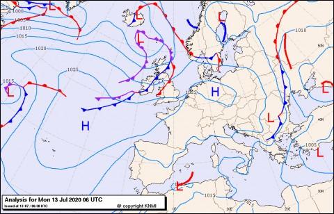 Previsioni meteo per lunedì 13, martedì 14, mercoledì 15 (luglio)