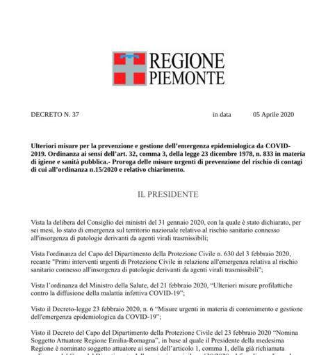 Attenzione: circola in rete una falsa ordinanza della Regione Piemonte