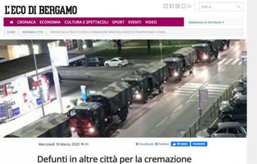 Arrivano a Novara feretri da cremare da Bergamo
