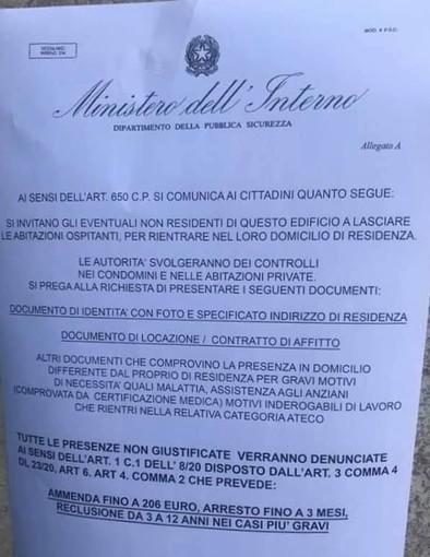Attenzione al falso volantino intestato al Ministero dell'Interno
