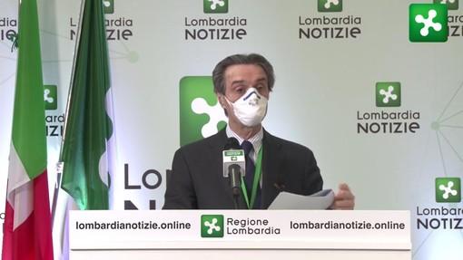 Coronavirus, Fontana: «I contagi in Lombardia tornano a salire: oggi 2.500 casi in più»