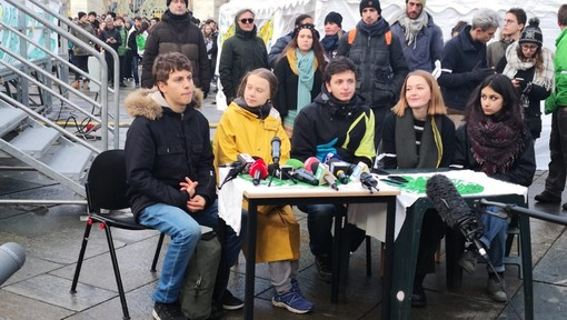 "Greta a Torino: ""La città è bellissima, contenta di essere qui""  (VIDEO)"