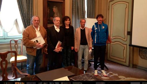 Da sinistra Andrea Coppo, Vincenzo Mignone, Maura Forte, Ezio Fumarulo e Nicola Fumarulo