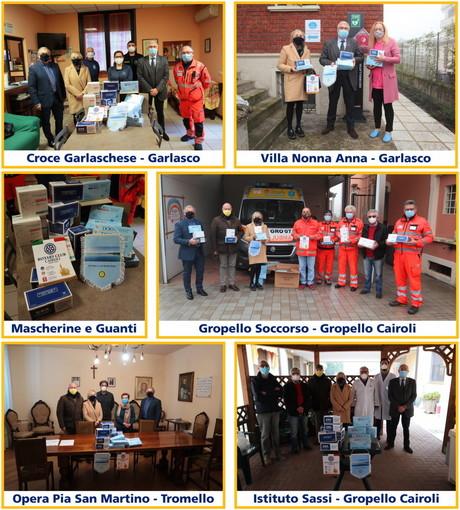 Il Rotary Club Cairoli dona presidi sanitari alle comunità locali