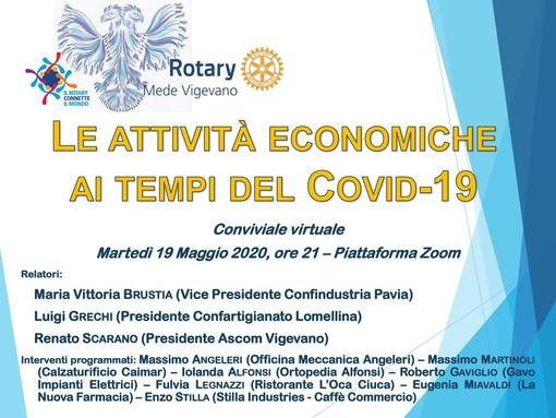 Vigevano, il Club Rotary Mede Vigevano si ripete su Zoom: protagonista questa volta l'economia