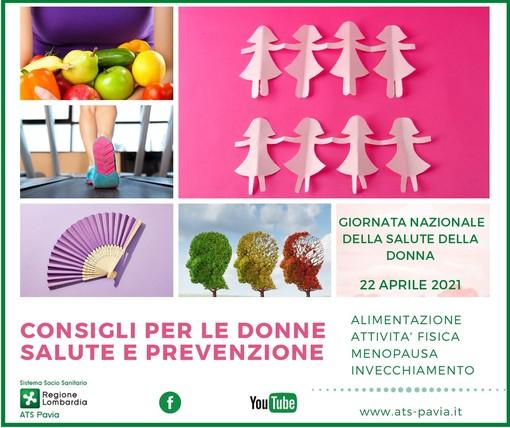 6° Giornata nazionale della salute della donna, ATS Pavia in campo per la promozione della salute femminile