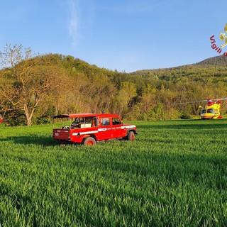 Ponte Nizza: rimane incastrato con la gamba negli ingranaggi del trattore, 50enne trasportato in elicottero all'ospedale