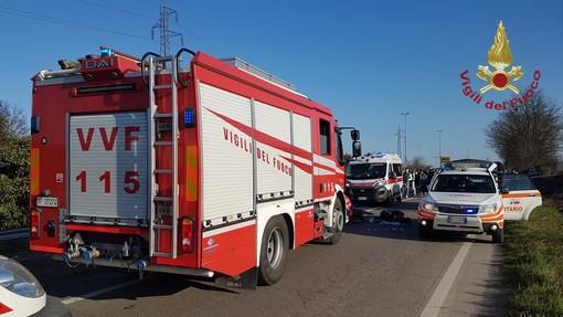 Gambolò, le immagini del drammatico incidente sulla provinciale 183
