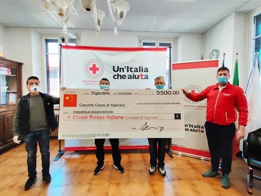 Vigevano: la comunità cinese dona 5.500 euro alla Croce Rossa