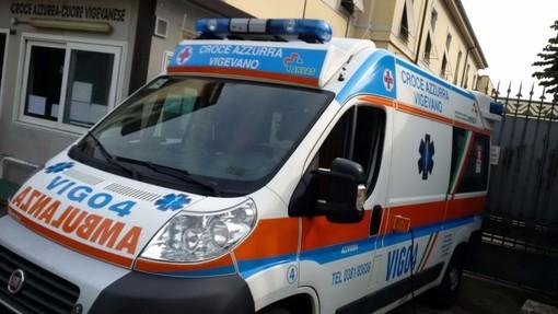 Vigevano: cade in moto ai Piccolini, ferito un centauro 43enne