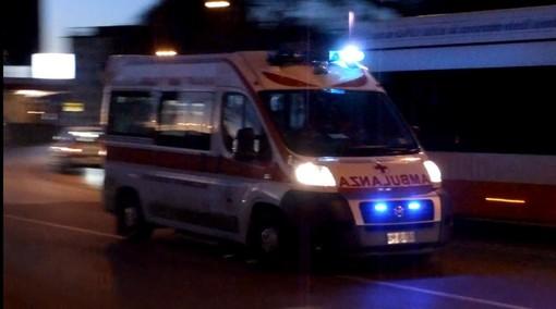 Albonese: esce di strada a causa della neve, ferito un 42enne