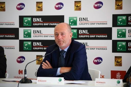 """Tennis, Internazionali BNL d'Italia: Binaghi: """"Le previsioni meteo hanno penalizzato il torneo"""""""