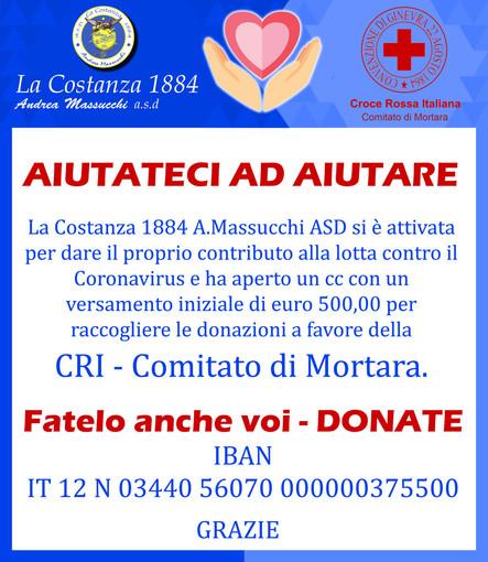 Mortara, anche la Costanza 1884 dà il proprio contributo per l'emergenza