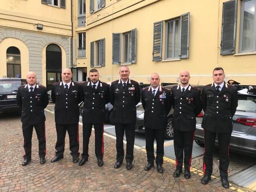Tre carabinieri della stazione di Sartirana premiati con un encomio scritto