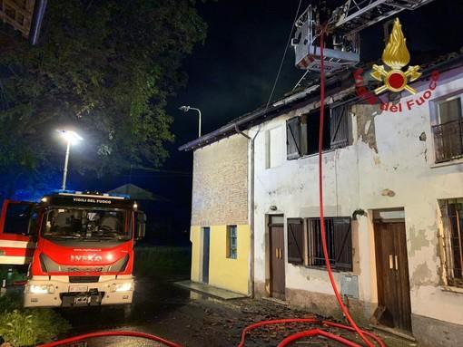 Verrua Po: incendio in appartamento, gravi danni allo stabile