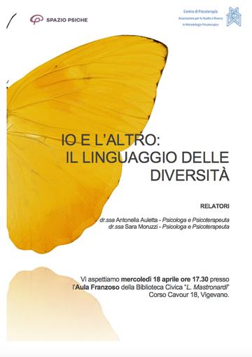 """Vigevano: Alla biblioteca civica Mastronardi, """"Io e l'altro: il linguaggio delle diversità"""""""