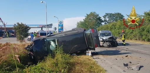 Spessa Po: scontro tra auto sulla provinciale 199, coinvolte due persone