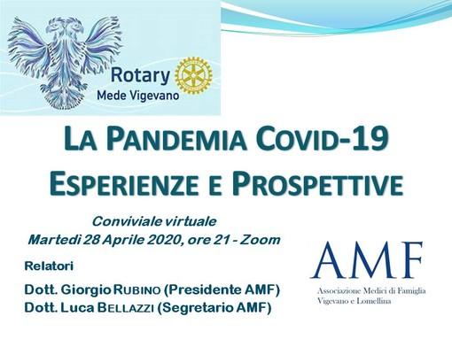 """Vigevano, il Rotary Mede Vigevano presenta """"La Pandemia Covid-19, Esperienze e Prospettive"""""""