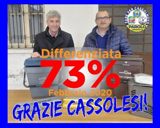 Cassolnovo, riscontro positivo per la raccolta differenziata. Raggiunto il 73%