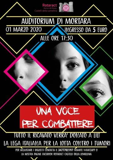 """Il Rotaract Castelli della Lomellina porta in scena """"Una Voce per Combattere"""""""