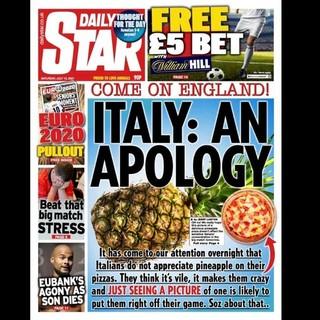 Gli inglesi ci irridono con pizza e ananas. E noi siamo terrorizzati dai possibili festeggiamenti...