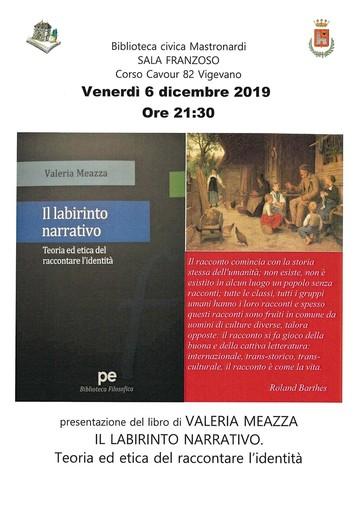 """Vigevano: alla biblioteca Mastronardi verrà presentato il libro """"Il Labirinto Narrativo"""""""