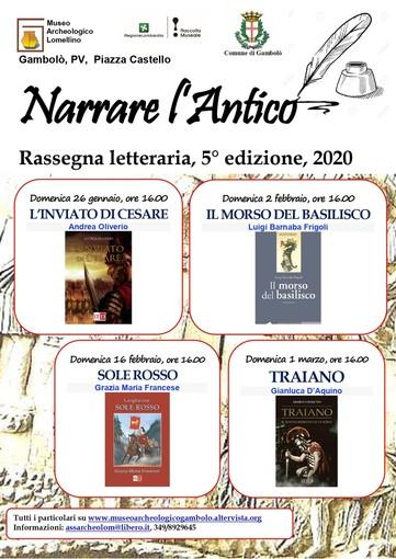 """Gambolò: presentazione del libro di Gianluca D'Aquino: """"Traiano – il sogno immortale di Roma""""."""