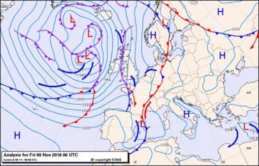 Previsioni meteo per venerdì 9, sabato 10, lunedì 11 (novembre)