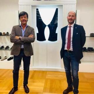(Nella foto, da sx a dx, Guido Mario Scalfi, azionista di maggioranza Moreschi e il consigliere regionale del M5S Lombardia, Simone Verni)