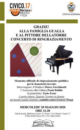 Mortara, il 18 maggio riapre la biblioteca. Nella prima settimana concerto del maestro Tazio Forte