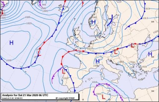 Previsioni meteo per sabato 21, domenica 22, lunedì 23 (marzo)