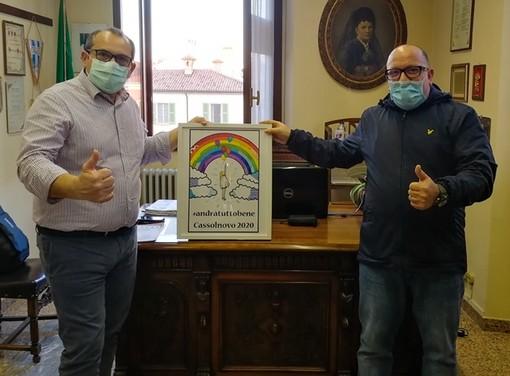 Cassolnovo, Michele Del Piccolo dona alla comunità un'opera che infonde speranza