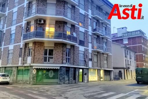 Il palazzo al civico 21 di via Zangrandi ad Asti, dove si trova l'appartamento in cui si è verificata la tragedia - Ph. Efrem Zanchettin - Merfephoto