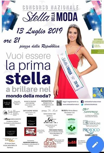 """Garlasco questa sera ospita la tappa decisiva di """"Stella della moda"""""""