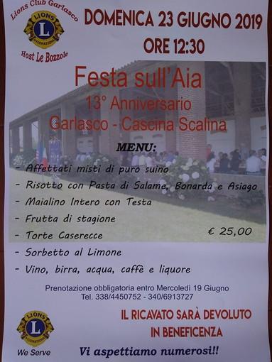 Garlasco, il Lions Club Host le Bozzole organizza la tredicesima Festa sull'Aia