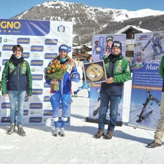 Cancro Primo Aiuto ha premiato la campionessa di sci Marta Bassino