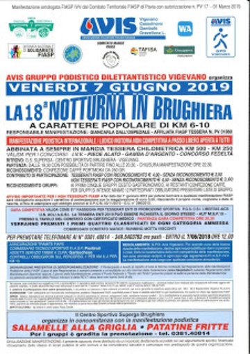 Avis Vigevano presenta la 18° Notturna in Brughiera