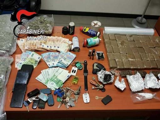 Corbetta: maxi sequestro di droga, trovati 8 chili tra hashish e marijuana e una fiala di testosterone