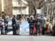 Le forze dell'ordine impegnate nei rilievi sul luogo del delitto