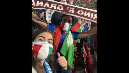 Francesca Pinto ed Edoardo Fiora domenica alla finale, e prima ancora nella partita contro la Spagna