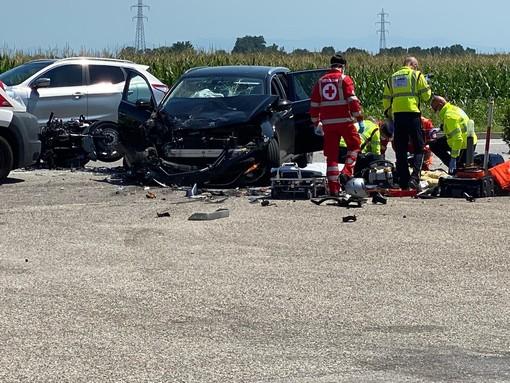 Vigevano: scontro auto-moto in viale Industria, è deceduto nella notte il motociclista ferito