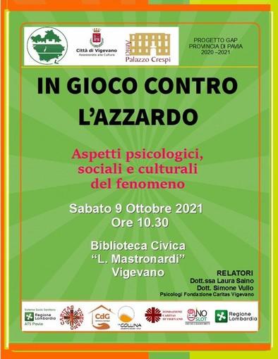 """Vigevano: """"In gioco contro l'azzardo"""", progetto Caritas per sensibilizzare alla prevenzione delle ludopatie"""