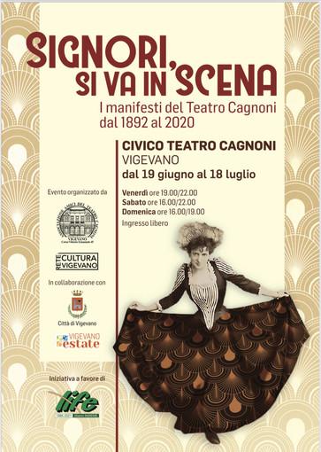 """Vigevano: arriva la mostra """"Signori, si va in scena"""", manifesti del Teatro Cagnoni"""