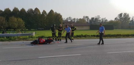 Boffalora sopra Ticino: incidente auto moto sulla ex statale 11