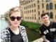 Mihaela Cheli con il fidanzato Matteo Tugnoli a Firenze nel maggio scorso (immagine da profilo Fb)