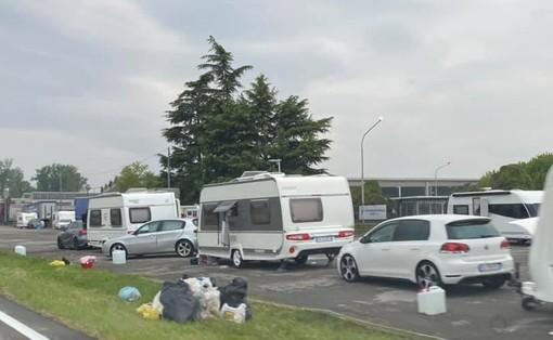Albairate: carovane di nomadi tra la Faustina e la stazione, interviene la Polizia locale
