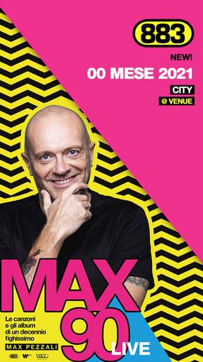 Max Pezzali sarà a Vercelli con il tour Max90 Live